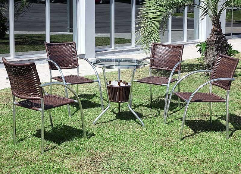 Conjunto Mesa com Balde e 4 Cadeiras Md 03