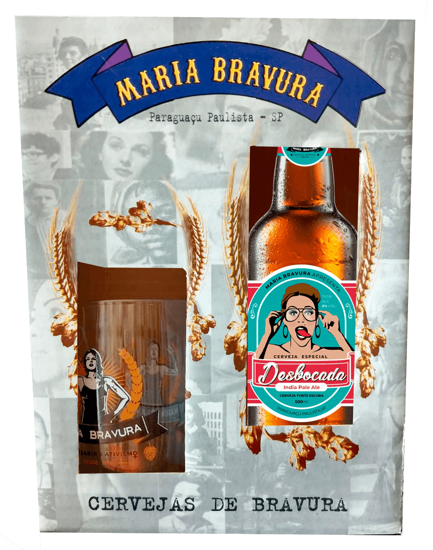 Kit Maria Bravura - Caneca 340ml + Cerveja Desbocada 500ml