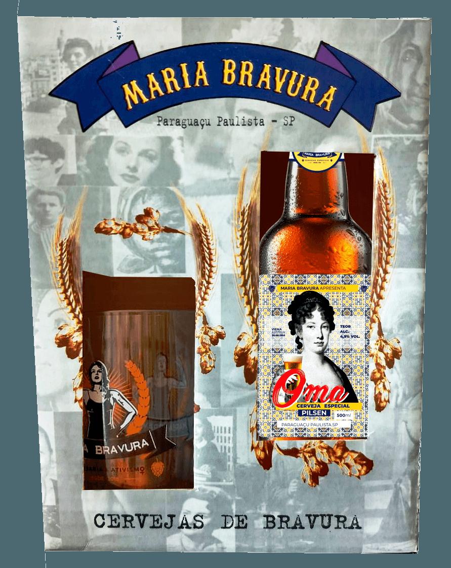 Kit Maria Bravura - Caneca 340ml + Cerveja Oma 500ml