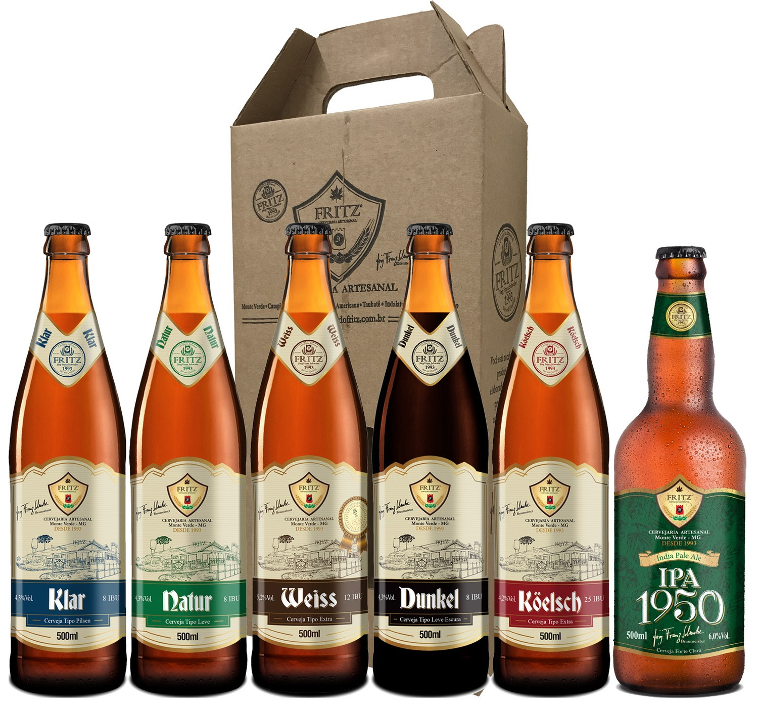 Pack 2 Cervejas Fritz - 500ml