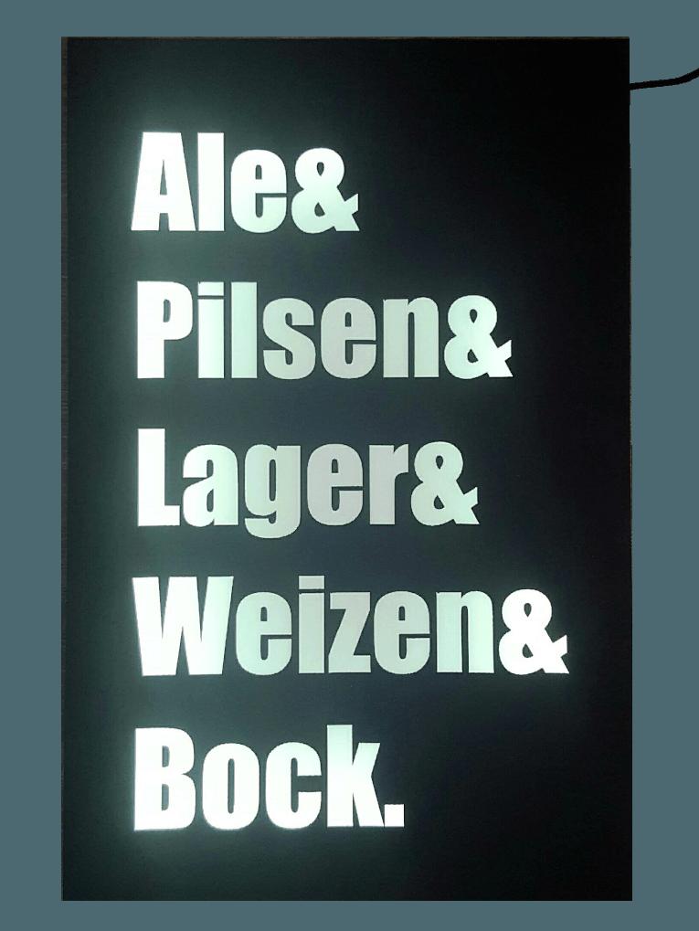 Quadro Luminoso Estilos de Cerveja
