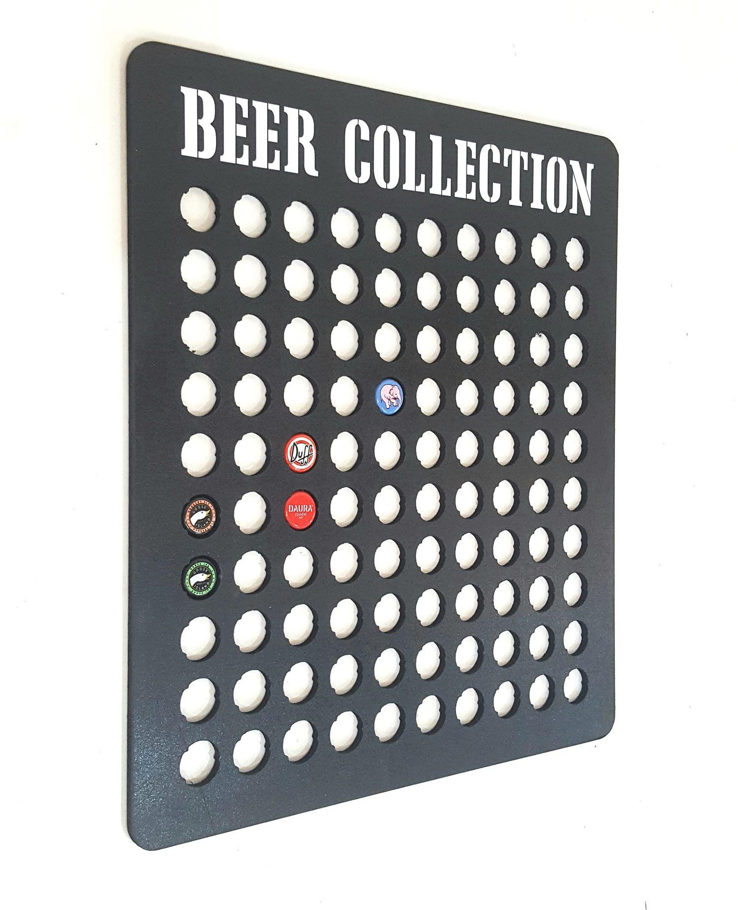 Quadro Porta Tampinhas Beer Collection