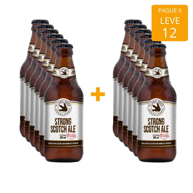 T-Rex Beer Strong Scotch Ale 300ml - Pague 6 e Leve 12