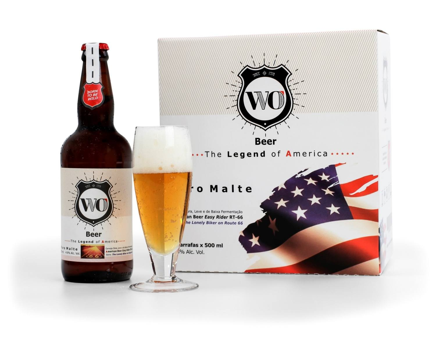 WO Beer American Beer Easy Rider RT-66 - Cx 6 Unidade de 500ml