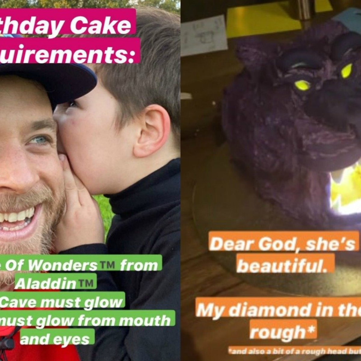 Stupendous Hamish Blake Cake 2020 Hes Outdone Himself With An Aladdin Cake Personalised Birthday Cards Petedlily Jamesorg