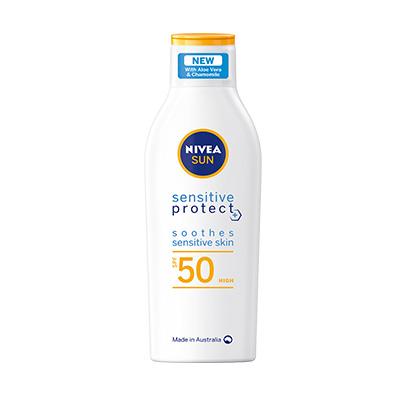 Bottle of Nivea Protect SPF50