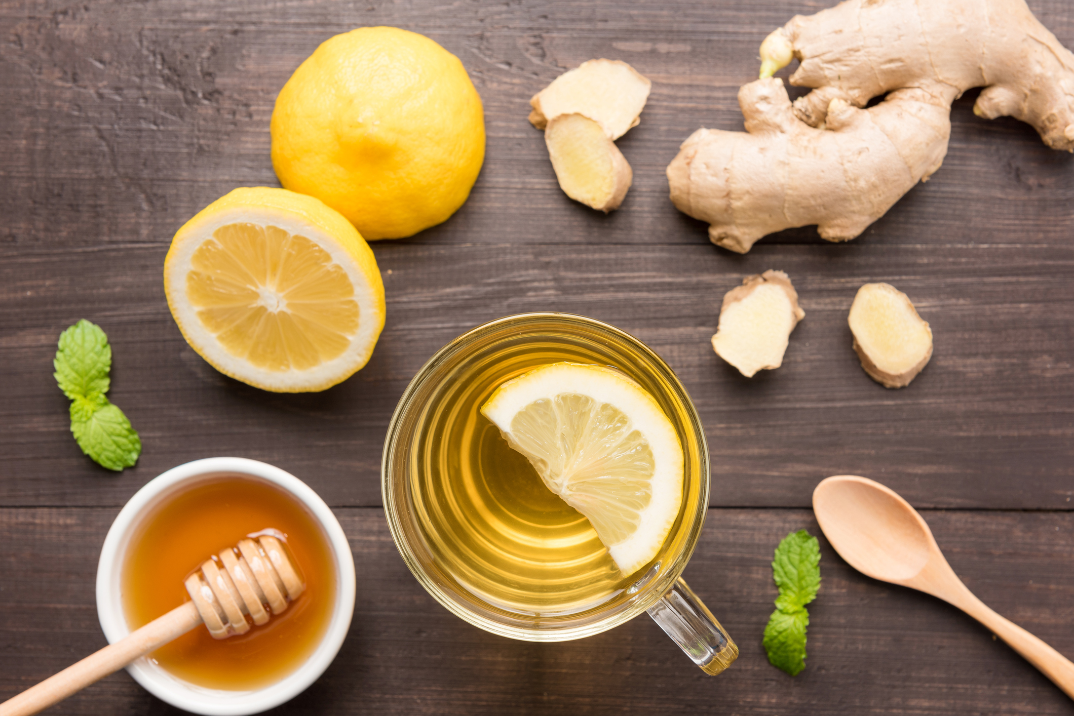 Ingefära, citron och honung