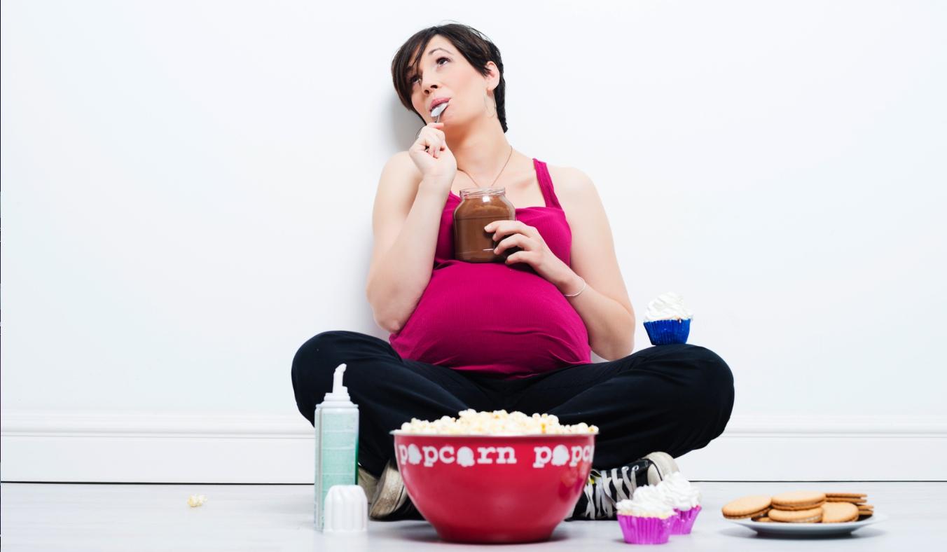 när går man upp i vikt gravid