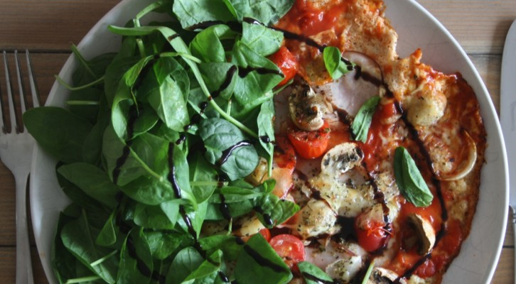 Proteinpizza, helt utan mjöl (klar på en kvart!)