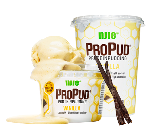 hemmagjord proteinpudding