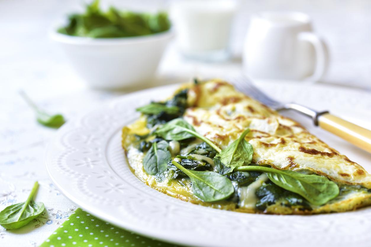 omelett spenat