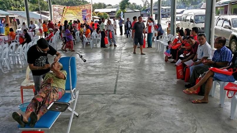 Patients waiting patiently pun indended) for treatment