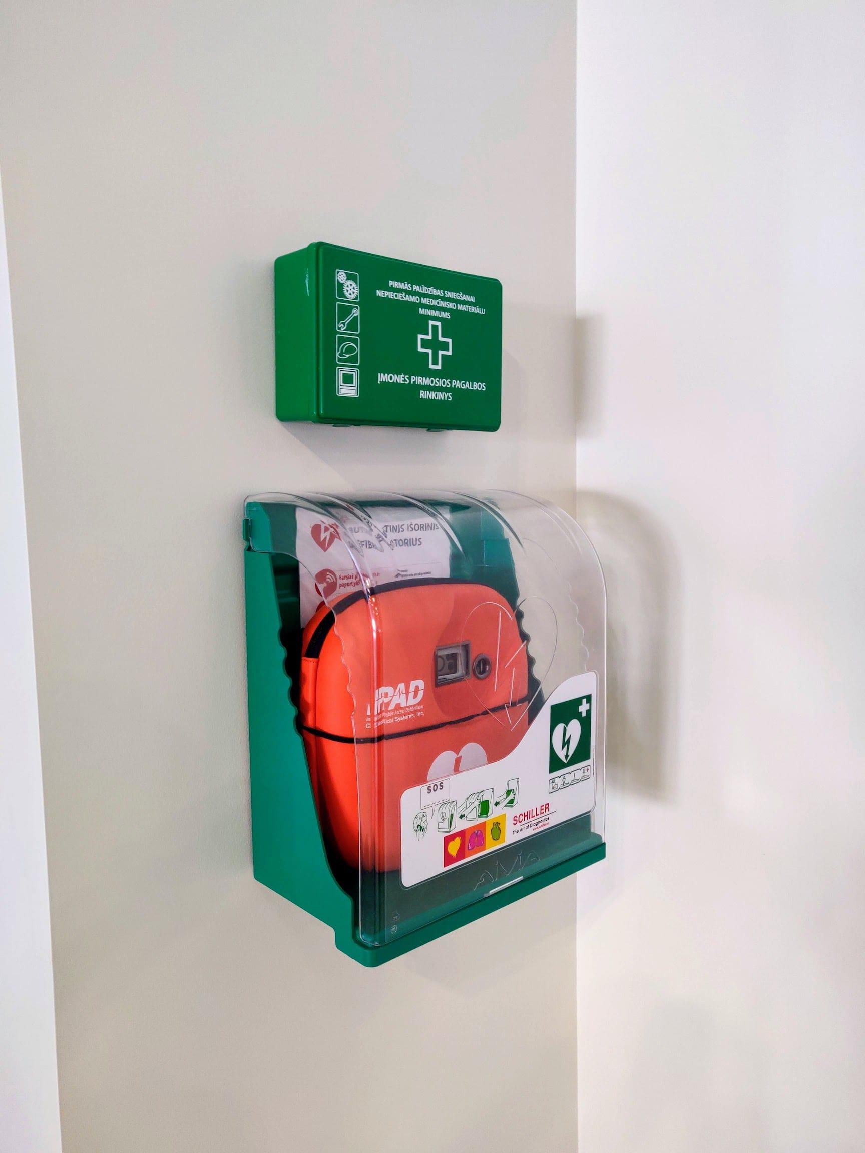Automatiniai išoriniai defibriliatoriai Palangos baseine iš arti