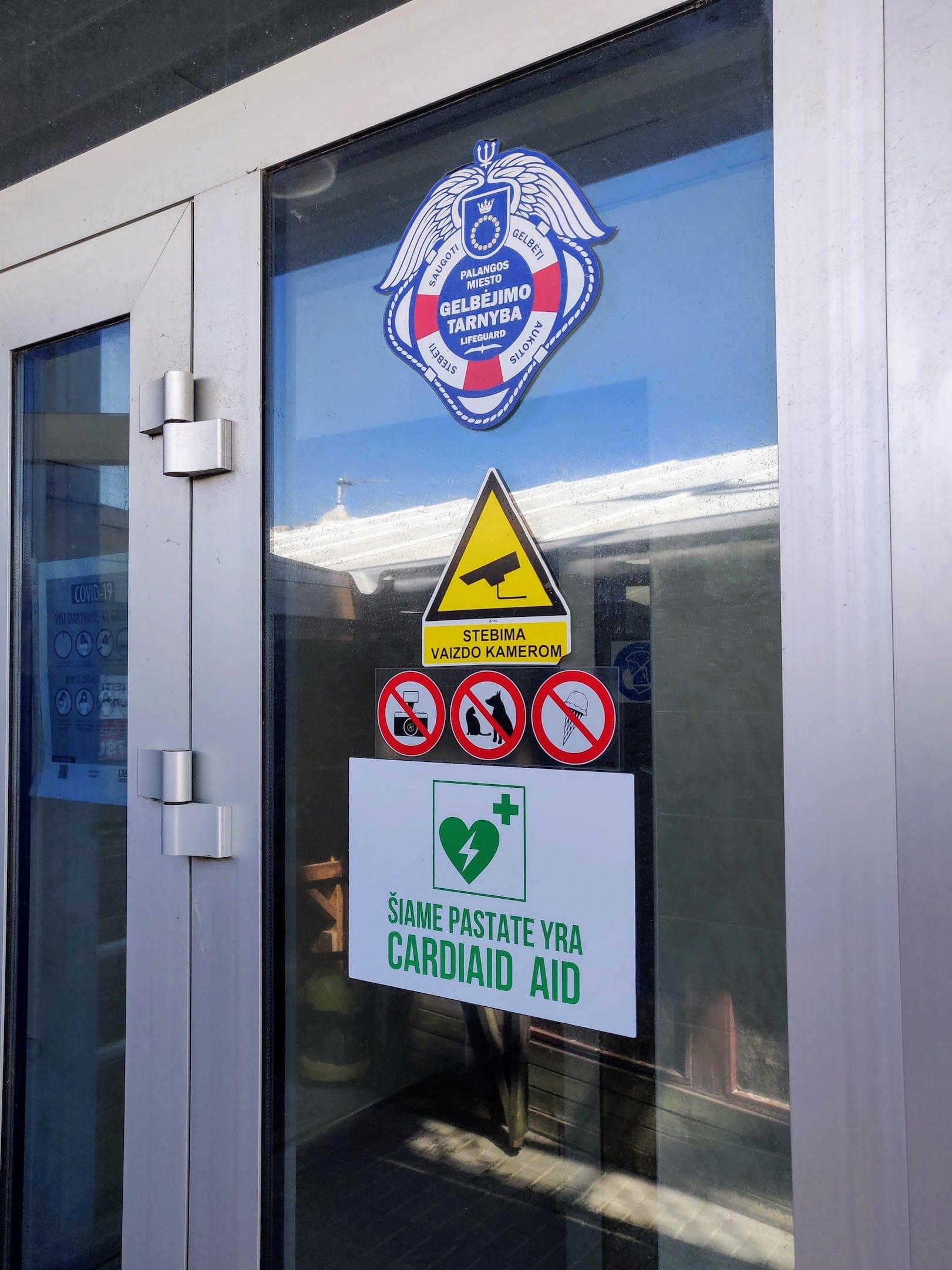 Automatiniai išoriniai defibriliatoriai Palangos miesto gelbėjimo stotyje: įėjimas