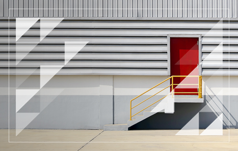 building envelope solution wall with red door