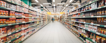 Mantis serves the retail and grocery industry aisles of grocery store