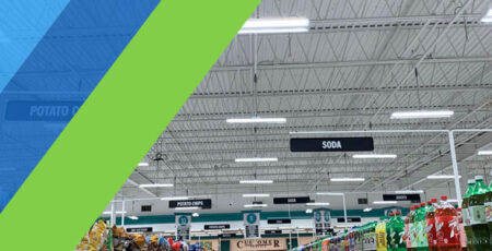Price Chopper aisle with new LED Lighting with Mantis colors