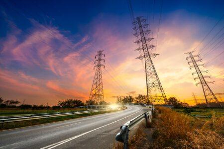 Deregulation header image powerlines in sunset