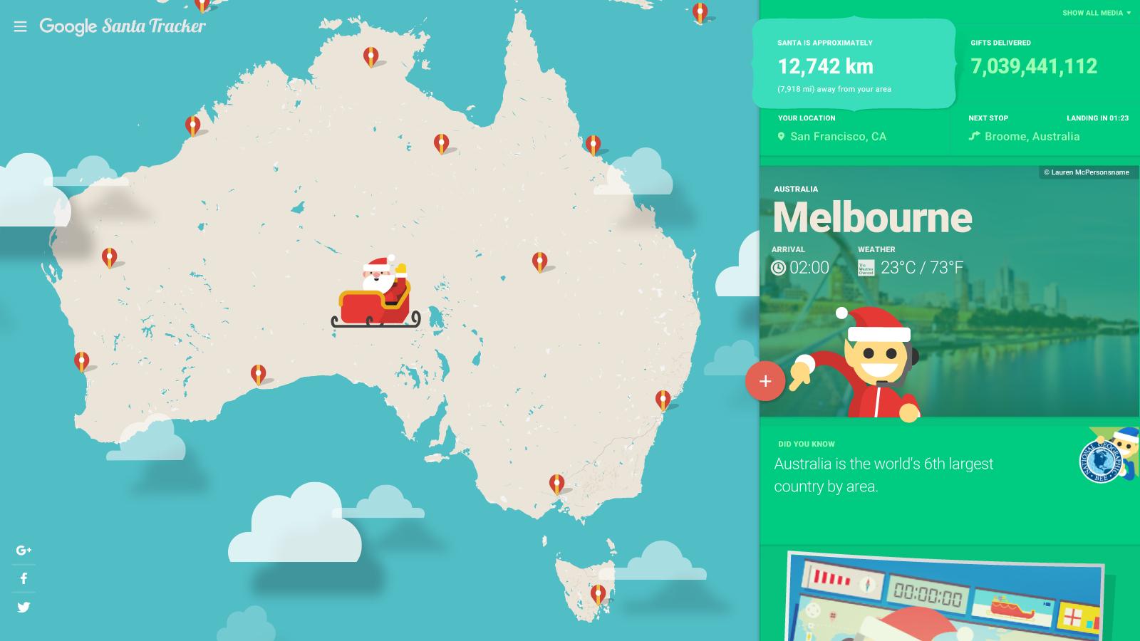ð google santa tracker