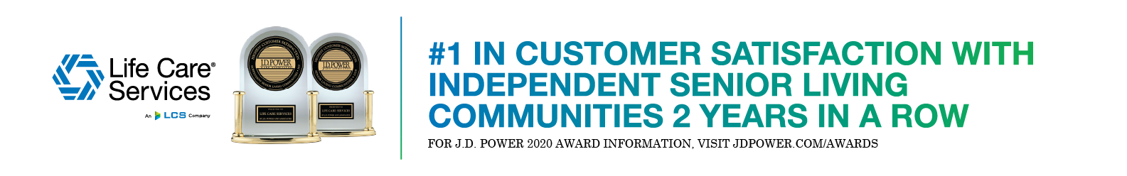 LCS #1 in Customer Satisfaction from J.D. Power award