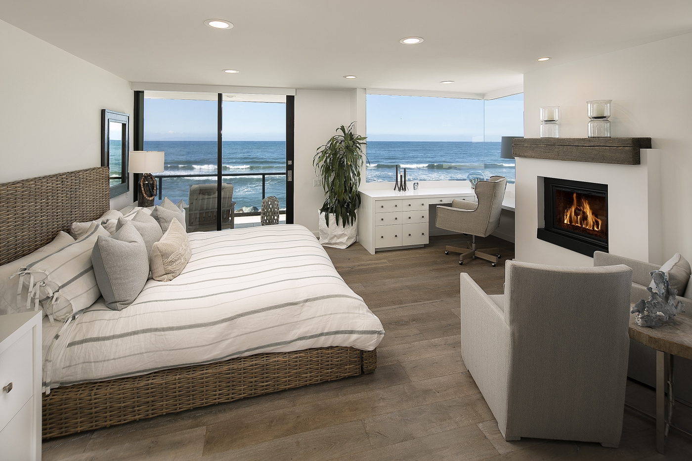 Ocean filled master suite