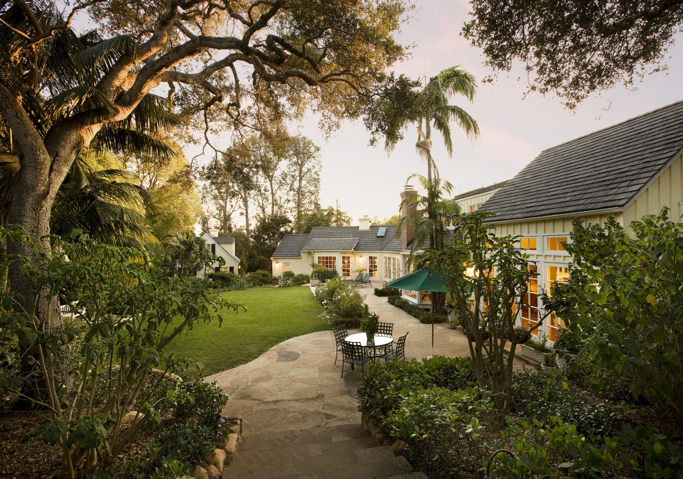 Sprawling Lawns, Lush Landscaping, Spacious Main House & Guest House