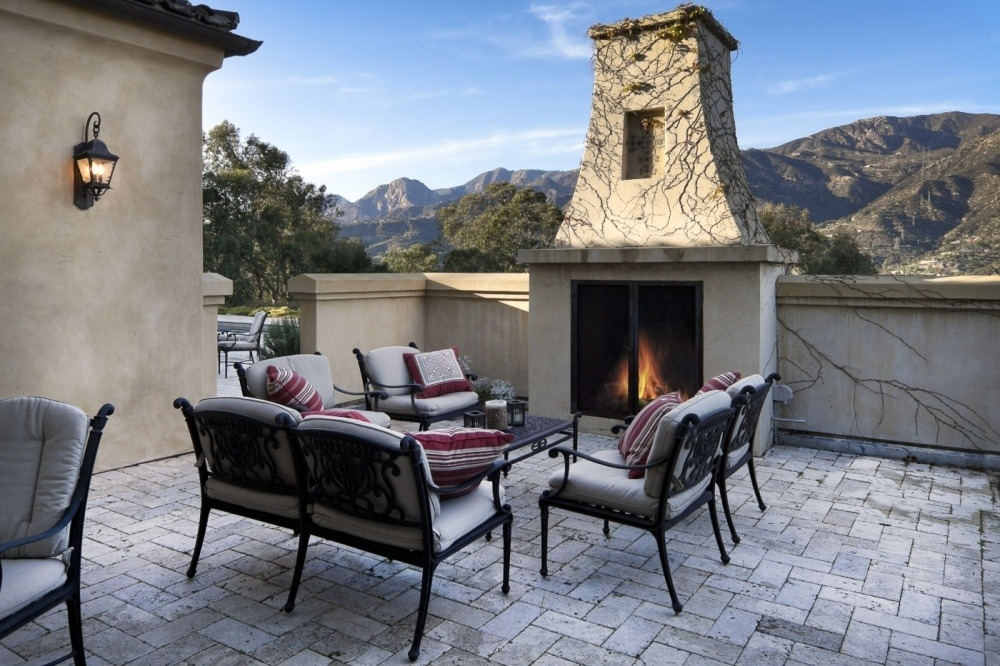 Outdoor Fireplace of of Family Room