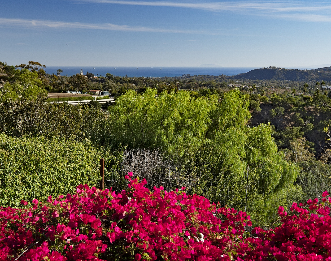 Santa Barbara's Coast, Sparkling Ocean, and Majestic Channel Islands