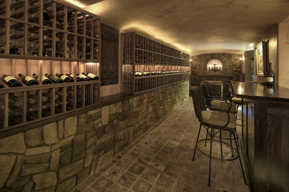 500+ Bottle Wine Grotto with Wet Bar