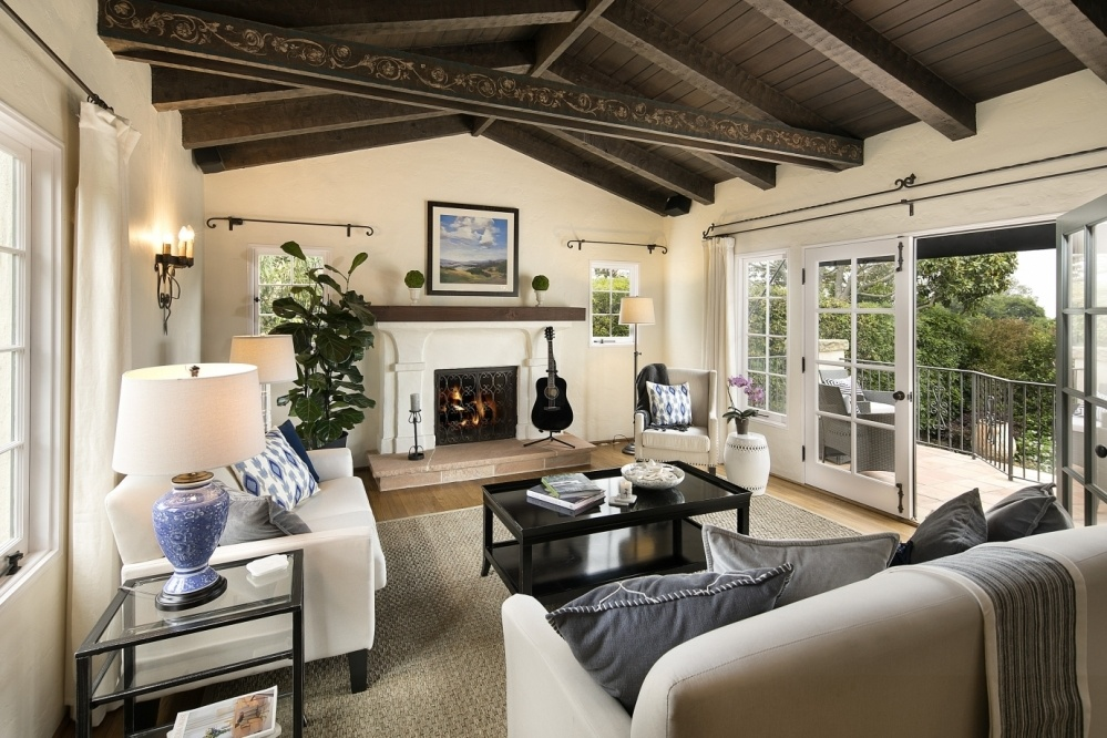 Spacious Living Room Extends to Patios