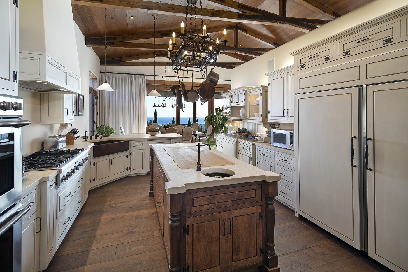 Open & Bright Kitchen with Ocean Views