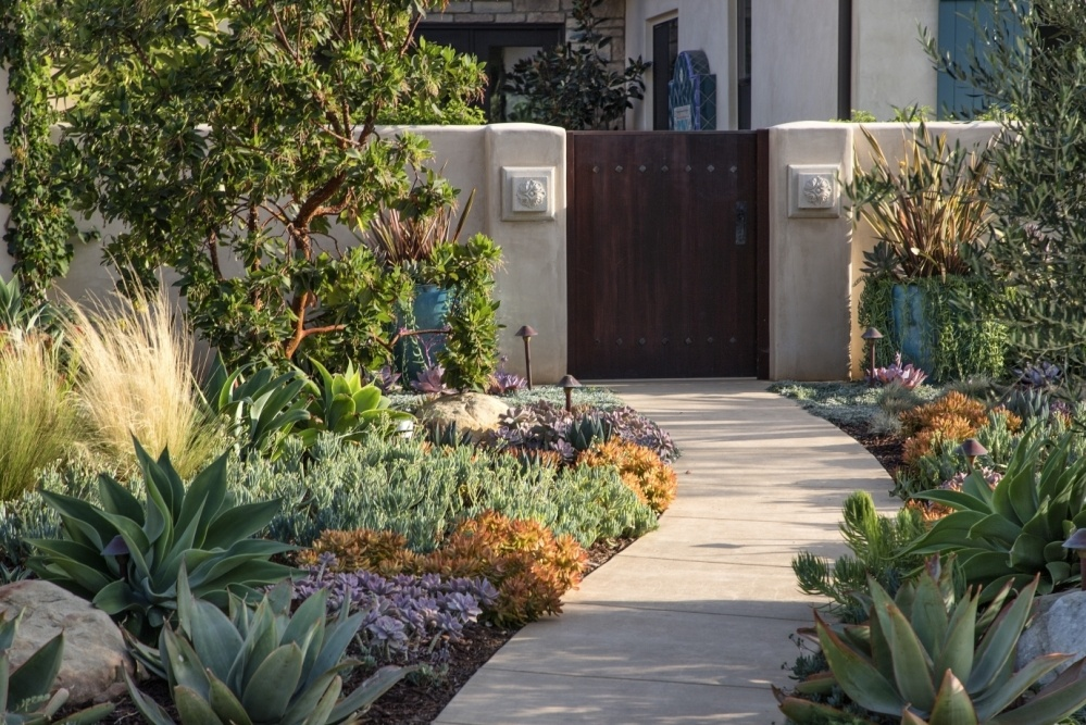 Designer landscaping & Gated Approach