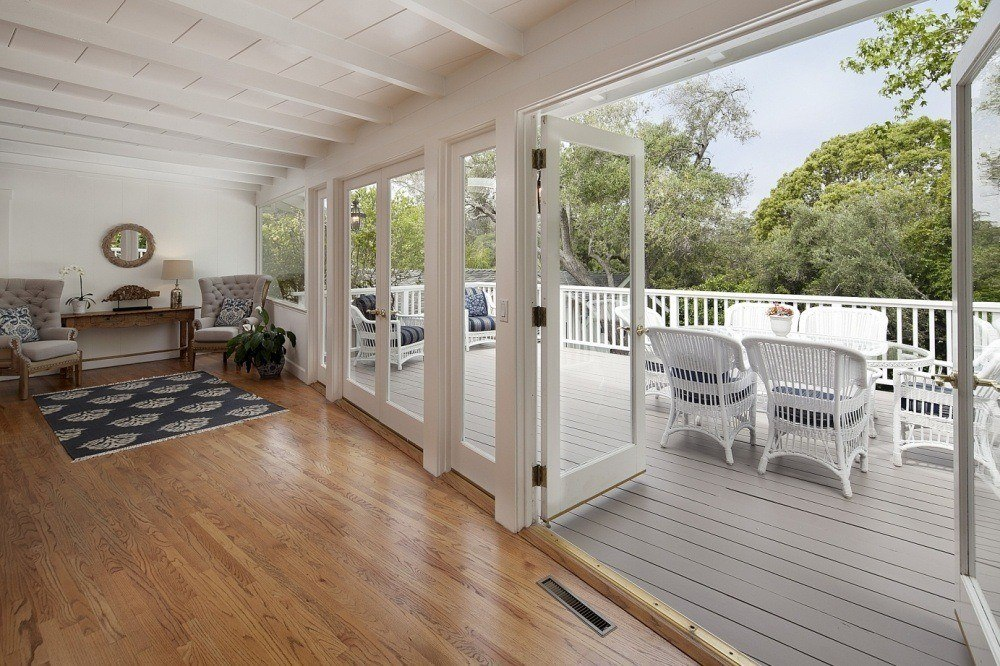 French Doors to Beautiful Deck