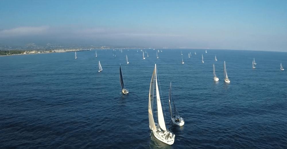 sailboats on ocean