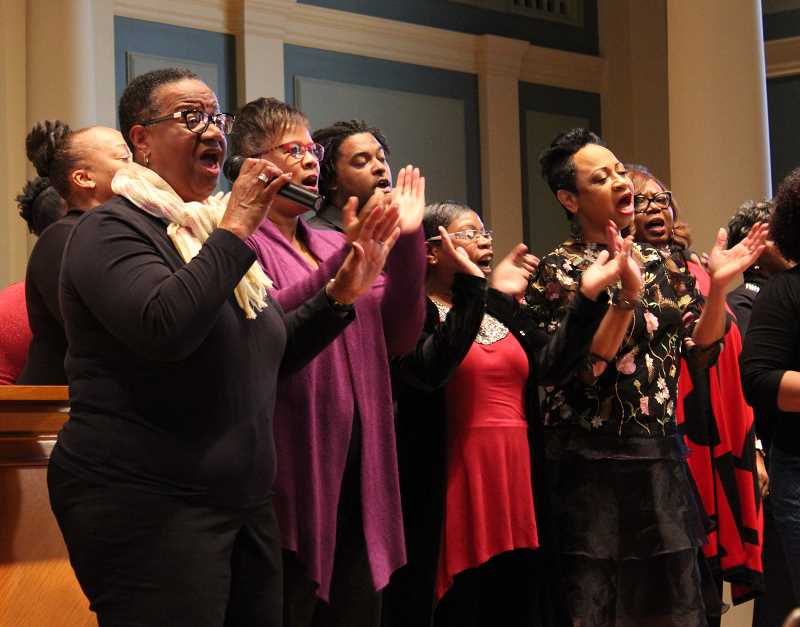 The Freedom Singers perform in the Chapel