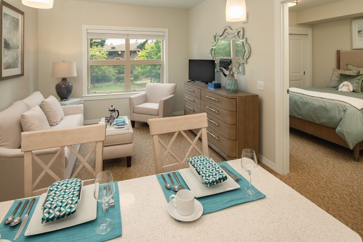 Interior of assisted living apartment