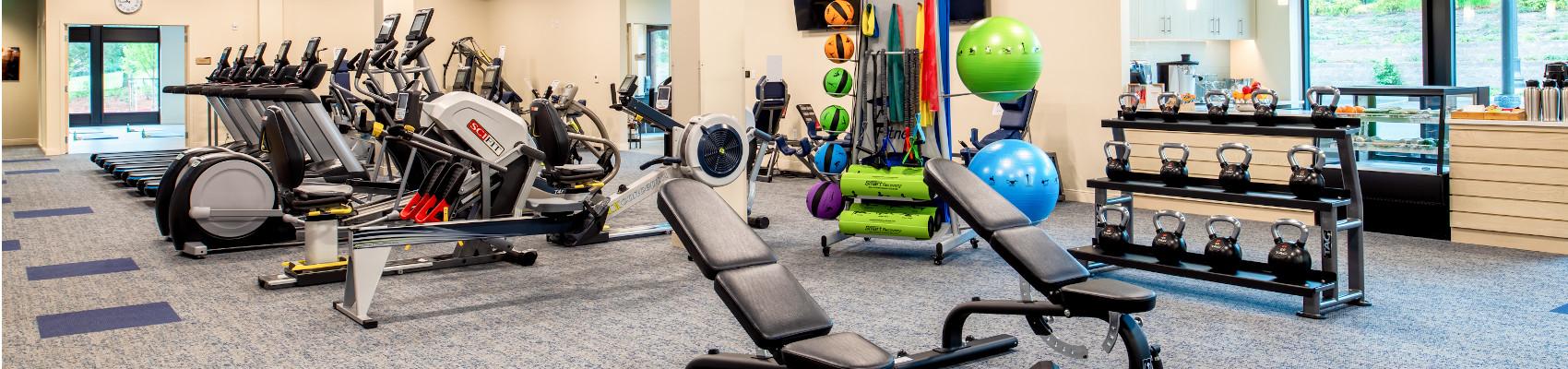 Fitness center inside Mary s Woods
