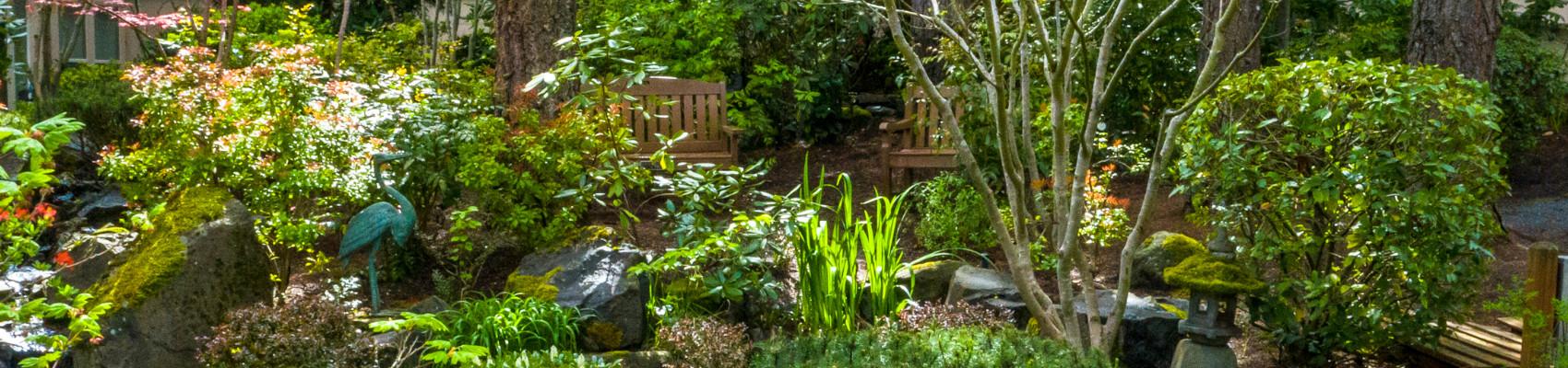 Garden outside Mary s Woods