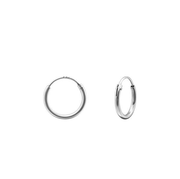 Stříbrné náušnice Kruhy 10 mm