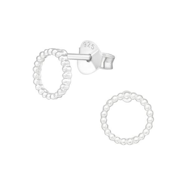 Stříbrné puzetové náušnice - kruh