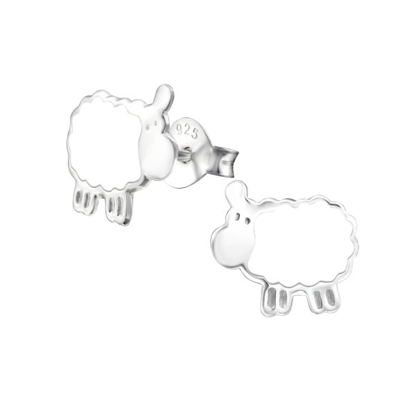 Ovečka - Stříbrné náušnice pro děti