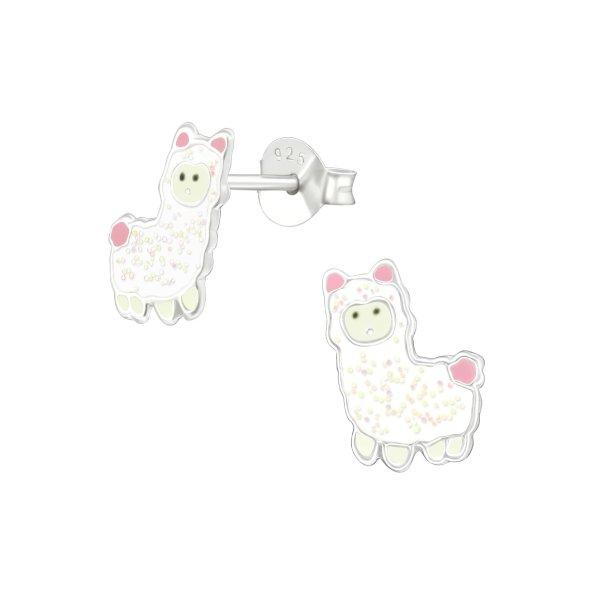 Lama - Stříbrné náušnice pro děti
