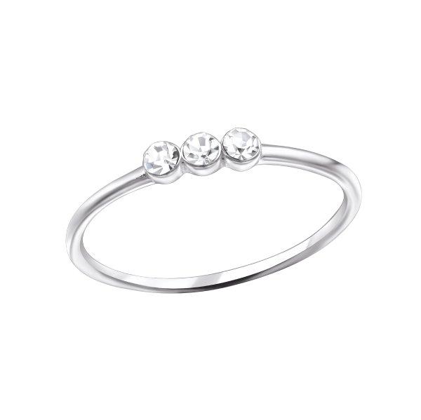 Stříbrný prstýnek 3 kameny