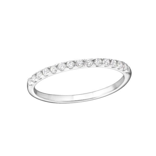 Stříbrný prsten Krystal