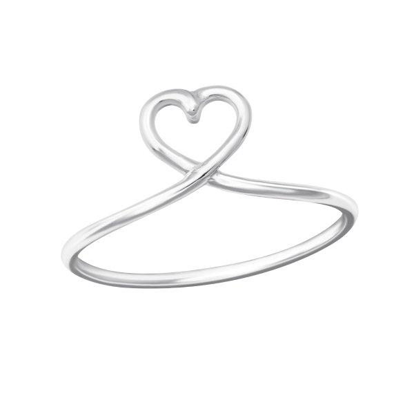 Stříbrný prstýnek Srdce