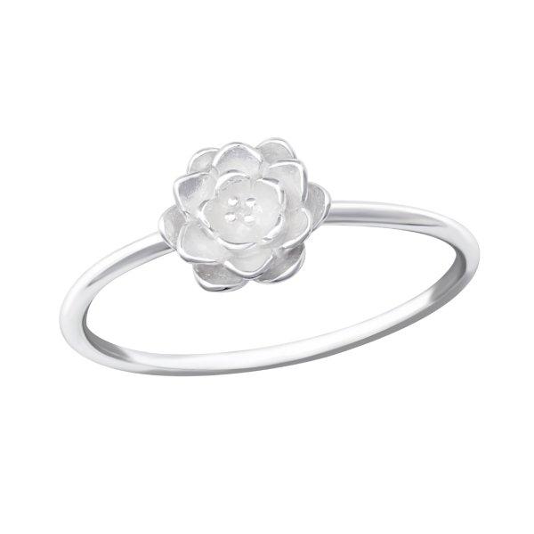 Květ - Stříbrný prsten
