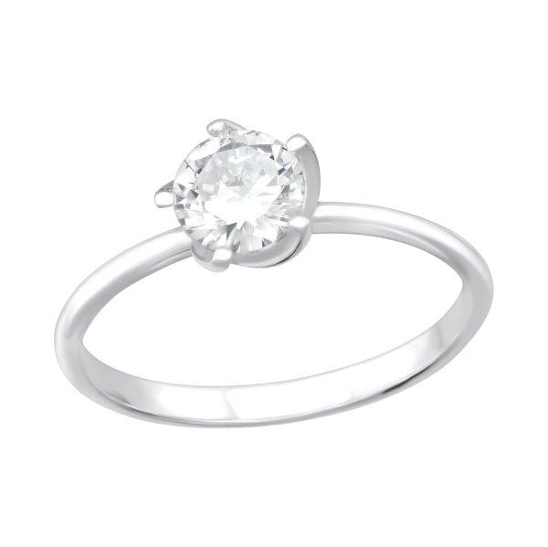 Stříbrný prsten osazený zirkonem