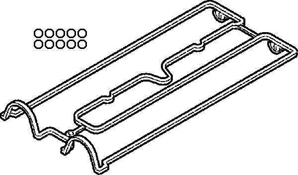 Gasket cylinder head cover ELRING 058880 P for Daewoo