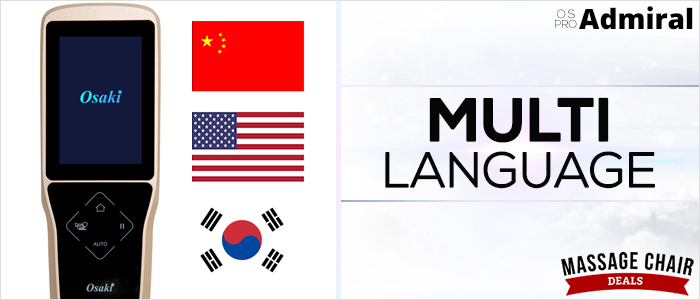 Osaki OS-Pro Admiral Massage Chair Multi Language Support