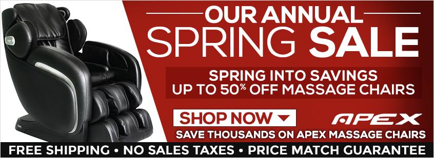 Apex Massage Chairs Spring Sale
